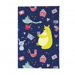 фото Обложка для паспорта Mitya Veselkov «Медвежья почта». Цвет: синий