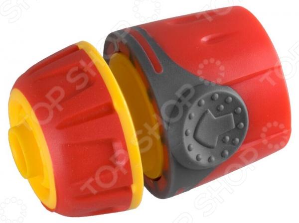 Соединитель с TPR покрытием Grinda PremiumКоннекторы и штуцеры для соединения шлангов<br>Grinda Premium представляет собой современный и удобный в использовании соединитель. Предназначен для быстрого и надежного соединения шланга с адаптером, переходником, тройником или поливочной насадкой. В конструкции предусмотрен трехсторонний зажим. Представленная модель изготовлена из высококачественного пластика и покрыта слоем из термопластичной резины TPR . Изделие отвечает всем нормам и стандартам качества, предъявляемым к данной продукции.<br>
