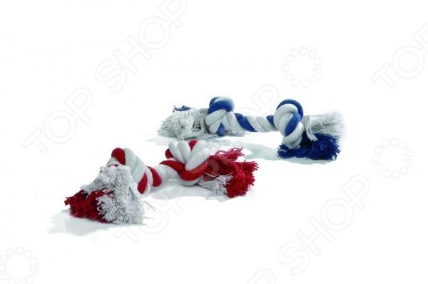 Игрушка для собак Beeztees «Канат с 2-мя узлами». В ассортименте цена