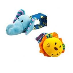 фото Набор игрушек развивающих Жирафики «Браслет слоник и лев»