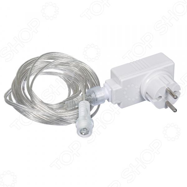 Трансформатор для гирлянд VEGAS 55045Гирлянды<br>Трансформатор для гирлянд VEGAS 55045 предназначен для подключения низковольтных гирлянд. С его помощью вы сможете соединить несколько нитей воедино и дать им необходимое питание. Устройство производит мощность в 12 Вт, позволяя подключить гирлянды с LED лампами количеством до 500 штук. Трансформатор удобен тем, что вы будете использовать всего одну розетку 220 V, при этом включите все гирлянды в помещении.  Изделие обладает повышенной влагостойкостью и хорошей изоляцией. Его можно использовать как внутри помещений, так и на улице или балконе. Устройство выдерживает температуру от -30 до 50 градусов. Приобретая данный трансформатор ваши подготовления и украшения помещения перед праздником станут в несколько раз проще и безопаснее.<br>