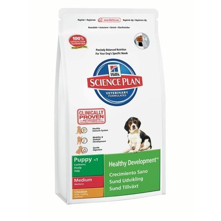 Купить Корм сухой для щенков средних пород Hill's Science Plan Puppy Medium с курицей