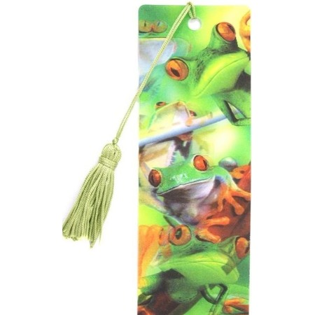 Купить 3D-закладка для книг Липуня «Лягушки»