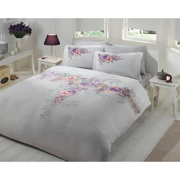фото Комплект постельного белья Tac Lona. 2-спальный. Цвет: серый