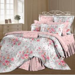 фото Комплект постельного белья Романтика «Французский букет». 2-спальный. Размер наволочки: 70х70 см — 2 шт