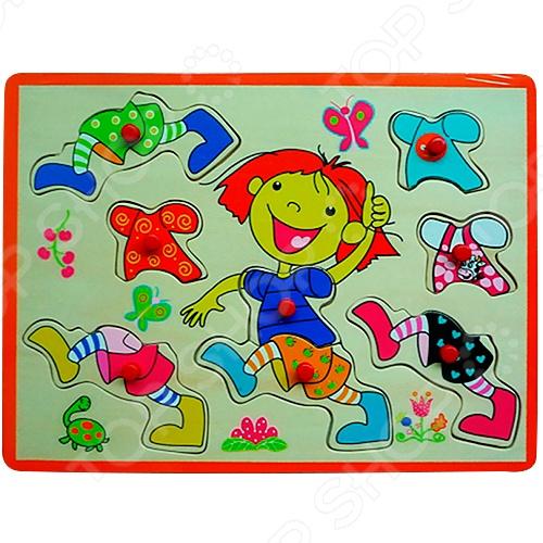 фото Деревянный пазл Винтик и Шпунтик «Одень мальчика», Деревянные игрушки для малышей