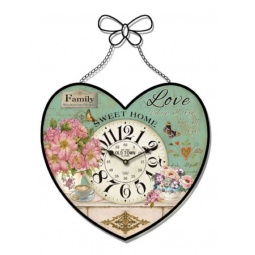 фото Часы настенные Феникс-Презент «Сирень в сердечке»