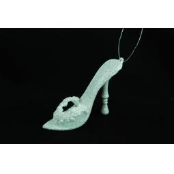 фото Елочное украшение Crystal Deco «Туфелька». Цвет: белый