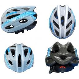 фото Шлем защитный ATEMI Racing AAHR-01. Цвет: серый, голубой. Размер: M (56-58)