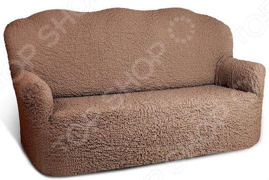 Натяжной чехол на четырехместный диван «Модерн. Какао»Чехлы на диваны<br>Уют вашей квартиры в первую очередь зависит от мебели. Именно она формирует внешний облик комнаты, влияет на температуру, влажность и особенно на настроение человека. От ее цвета и материала зависит ваше расположение духа. Если вам надоел внешний вид вашего большого старого дивана или он не вписывается в новое оформление интерьера обновите его! Все значительно проще, чем вам может показаться, если вы приобретете натяжной чехол на четырехместный диван Модерн. Какао . Новая жизнь старого дивана Обновлять интерьер приятно и весело, особенно если это не требует особых усилий и затрат. Хотите иметь возможность менять внешний вид своего дивана в зависимости от сезона, настроения или по случаю праздника Воплотить ваши творческие задумки в жизнь поможет универсальный еврочехол из коллекции Модерн , разработанный специально для мягкой мебели.  Обивка на диване со временем все равно утрачивает свой первоначальный внешний вид. Случайное пятно, протертая ткань или деяния домашних питомцев очень быстро приведут мягкую мебель в негодность, из-за которой будет стыдно приглашать в дом гостей. В это случае нужно или покупать новую мебель или менять обивку дивана. Менять обивку самостоятельно трудоемкий процесс, с которым не каждый мастер справляется на 100 . Но, есть третий вариант приобрести натяжные еврочехлы! Возможности использования этой модели впечатляют:  защита от протирания, загрязнения и выгорания ткани;  ткань не позволяет животным точить об нее когти;  новый декор для старой мебели ;  обновление интерьера;  объединение разных кресел и диванов в один ансамбль. Универсальная технология Весь секрет натяжного чехла в его запатентованной технологии bielastico . Ткань изделия пронизана эластичными нитями, позволяя растягивать чехол во все стороны. Еврочехол подойдет для вашего четырехместного дивана, вне зависимости от его формы и конфигурации. Чехол можно сравнить с капроновыми колготками, которые идеаль