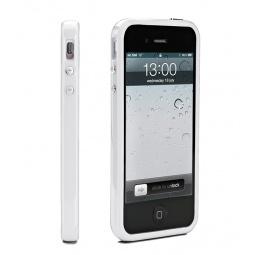 фото Чехол и пленка на экран Muvit Bumper Case для iPhone 5. Цвет: белый