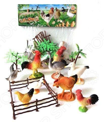 Набор фигурок домашних животных Shantou Gepai с аксессуарами 2C214-4Игрушечные животные<br>Набор фигурок Shantou Gepai с аксессуарами 2C214-4 это замечательный подарок для вашего малыша. В комплекте вы найдете фигурки птиц, а также деревья и загон. Для увеличения сходства с прототипами, птички выполнены с высокой степенью детализации, а значит прекрасно подойдут ребенку для изучения строения их тел. Данный набор украсит любую детскую комнату и принесет радость и веселье во время игр. Игрушки изготовлены из прочного пластика, который абсолютно безвреден для ребенка. Набор фигурок Shantou Gepai с аксессуарами 2C214-4 способствует развитию зрительной координации, воображения и мелкой моторики рук. Кроме того, тренируется наблюдательность, образное восприятие и логическое мышление.<br>
