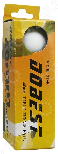 цена Мячи для настольного тенниса DoBest BA-01 1*