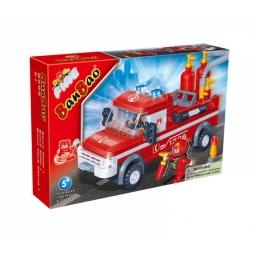 фото Конструктор Banbao Пожарный джип, 158 деталей