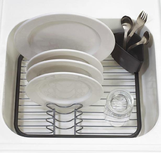 фото Сушилка для посуды Umbra Sinkin Dish. Цвет: серый