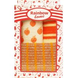фото Набор для уборки: 2 салфетки и губка Rainbow home «Абразив». В ассортименте