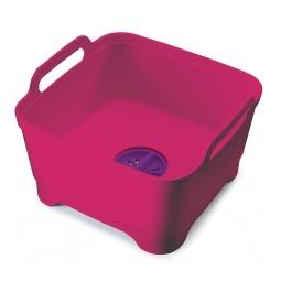 фото Контейнер для мытья посуды Joseph Joseph Wash&Drain. Цвет: розовый