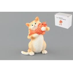 Купить Фигурка декоративная Elan Gallery Кот с золотой рыбкой