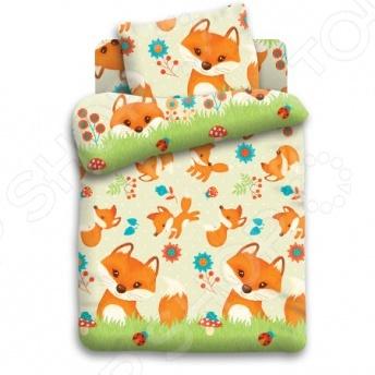 Детский комплект постельного белья Кошки-Мышки «Лисята»