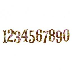 фото Форма для вырубки Sizzix Sizzlits Decorative Strip Die Цифры Антик
