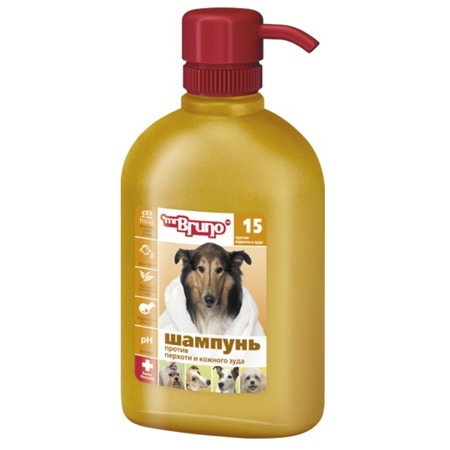 Купить Шампунь для собак Mr.Bruno №15 против перхоти и кожного зуда