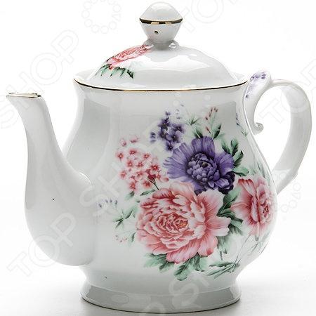 Чайник заварочный Loraine LR-24580 чайник заварочный loraine lr 23768 0 7л белый с рисунком ромашки