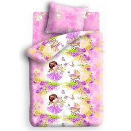 фото Детский комплект постельного белья Непоседа «Девочка с зайкой»