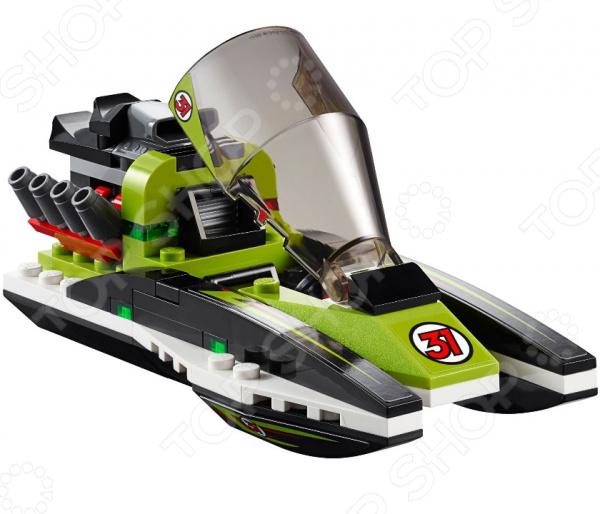 Конструктор игровой LEGO «Гоночный катер»Конструкторы LEGO<br>Конструктор игровой Lego Гоночный катер обязательно понравится ребенку. Он сможет самостоятельно собрать целую композицию, с которой потом можно будет играть. Играя с конструктором, ребенок будет развивать пространственное и логическое мышление, творческие способности и мелкую моторику рук. Кроме того, с получившейся игрушкой он сможет самостоятельно придумывать различные игровые ситуации, развивая тем самым и фантазию.<br>