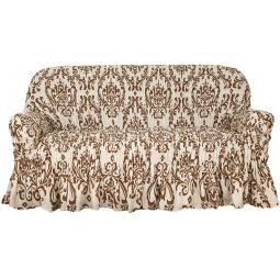 Натяжной чехол на трехместный диван «Фантазия. Венеция»