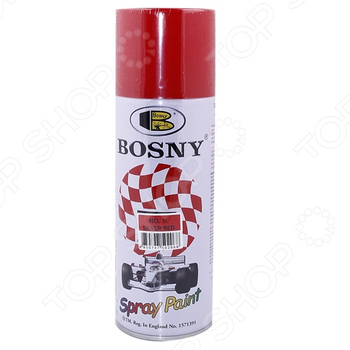 Краска акриловая Bosny это атмосферостойкая, быстросохнущая акриловая краска. Она применяется для окрашивания автомобилей, мотоциклов, мебели, инструментов, кухонной утвари и др. Краска хорошо ложится на различные виды поверхностей металл, дерево, керамику, пластик. При этом в большинстве случаев использовать ее можно без предварительного нанесения грунта.
