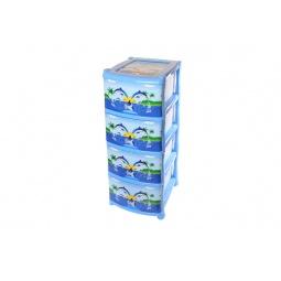 Купить Комод детский 4-х секционный Violet 0352 «Дельфин»