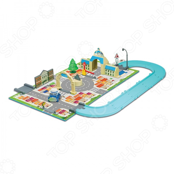 Набор игровой с машинкой Poli «Мэрия»Игровые наборы для мальчиков<br>Poli Мэрия это прекрасный набор, который разнообразит игровые ситуации и откроет новые сюжеты для маленького автолюбителя. Он непременно понравится любителям мультсериала Robocar Poli , в котором рассказывается про городок Брумстаун, где все автомобили умеют говорить. Представленная модель состоит из нескольких разборных элементов, которые имеют очень простые способы крепления, а при необходимости собирается в небольшой чемоданчик. На ярком игровом поле нарисованы дороги, перекрестки, улочки. Также в комплект входит яркая металлическая машинка Масти, которая непременно понравится вашему малышу. Ее размер составляет 6 см. Для игры можно использовать любые другие машины небольшого размера. Объединяя данный набор с другими наборами из этой серии, можно построить целый игровой городок. Не упустите шанс порадовать своего ребенка замечательным подарком!<br>