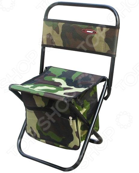 Стул складной с сумкой Siweida 8709033Стулья и кресла туристические<br>Стул складной с сумкой Siweida 8709033 создан специально для тех, кто любит отдыхать на природе. Рассчитанная на максимальную нагрузку в 75 кг модель, сделает ваш пикник максимально комфортным и приятным. Прочный стальной каркас диаметр трубы 16 мм обеспечивает прекрасную устойчивость изделия и его долговечность. Сидение и спинка изготовлены из качественного материала, который практически не подвержен истиранию или изнашиванию. Под сидением расположена сумка, в которой можно держать самые необходимые вещи. Стул легко складывается, поэтому его хранение и транспортировка не доставят проблем.<br>