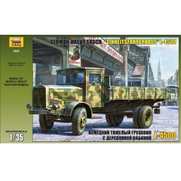 фото Сборная модель Звезда немецкий грузовик с деревянной кабиной L-4500