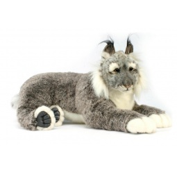 фото Мягкая игрушка для ребенка Hansa «Рысь лежащая»
