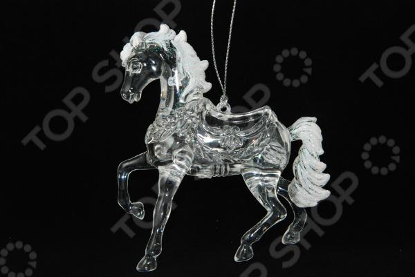 Елочное украшение Crystal Deco «Лошадь» Елочное украшение Crystal Deco «Лошадь» 1707748 /Серебристый