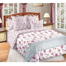 фото Комплект постельного белья Белиссимо с компаньоном «Мирабель». 2-спальный. Размер простыни: 220х195 см