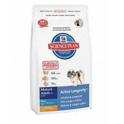 фото Корм сухой для пожилых собак мелких пород Hill's Science Plan Mature Adult Mini 7+ с курицей. Вес упаковки: 1 кг