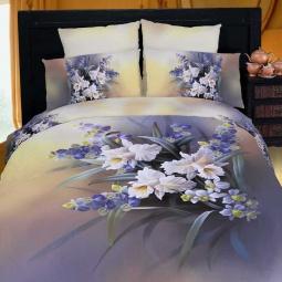 фото Комплект постельного белья Buenas Noches Orhidea. Satin Fotoprint. Евро