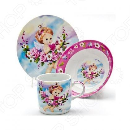 Набор посуды для детей Loraine «Ангел» LR-24027 loraine ангел lr 24027