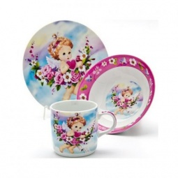 Купить Набор посуды для детей Loraine «Ангел» LR-24027