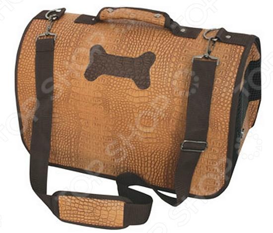 DEZZIE 5625828 это современный и стильный саквояж-переноска для вашего любимого питомца. Представленная модель обладает прекрасным дизайном и функциональностью. Для того, чтобы животное себя комфортно чувствовало, на торцах имеются вентиляционные сетки. Внутри есть поводок для фиксации собаки и подкладка на липучках. Для удобства транспортировки сумка-переноска DEZZIE 5625828 оснащена мягкой короткой ручкой и съемным регулируемым ремнем. Твердое дно и пластиковые ножки обеспечат хорошую устойчивость на любой поверхности.