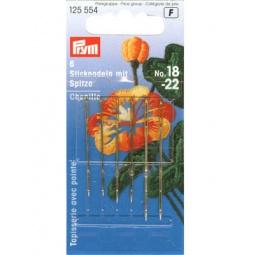 Купить Иглы для вышивания с заостренным концом Prym №18-22