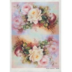 Купить Карта декупажная Кустарь «Нежные розы №5»