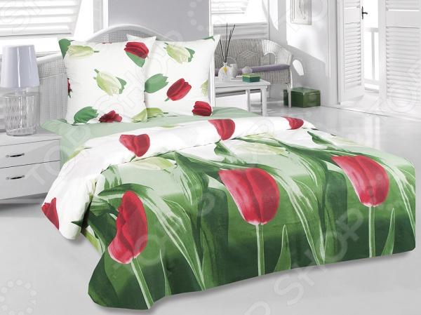Комплект постельного белья Tete-a-Tete «Тюльпаны» кислотные красители в алматы