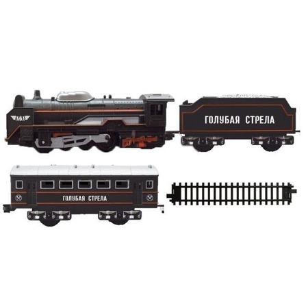 Купить Набор железнодорожный Голубая стрела «Паровоз с вагонами»