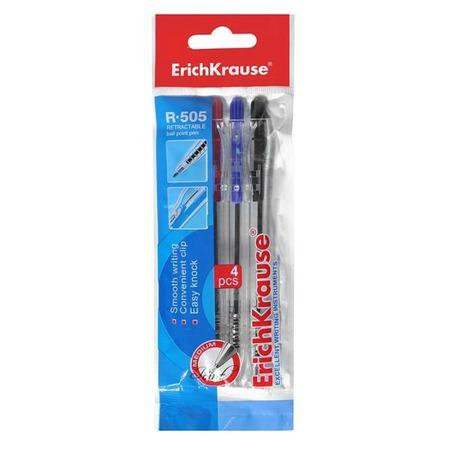 Купить Набор ручек шариковых Erich Krause R-505: 4 предмета