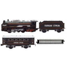 фото Набор железнодорожный Голубая стрела «Паровоз с вагонами»