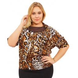 Блуза СВМ-ПРИНТ «Элиана». Цвет: коричневый