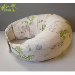 фото Подушка для беременных и кормления Velina на липучке. Рисунок: зайчики в одуванчиках